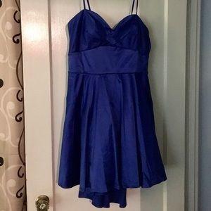 Size 15 Juniors Sapphire Blue Cocktail Dress